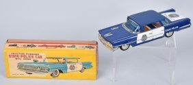 Japan Tin Friction Oldsmobile Police Car W/box