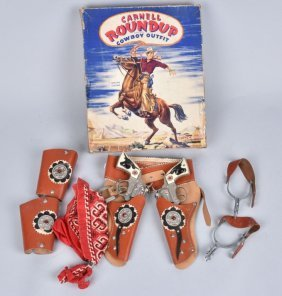 Carnell Roundup Cowboy Outfit W/ Guns Mib