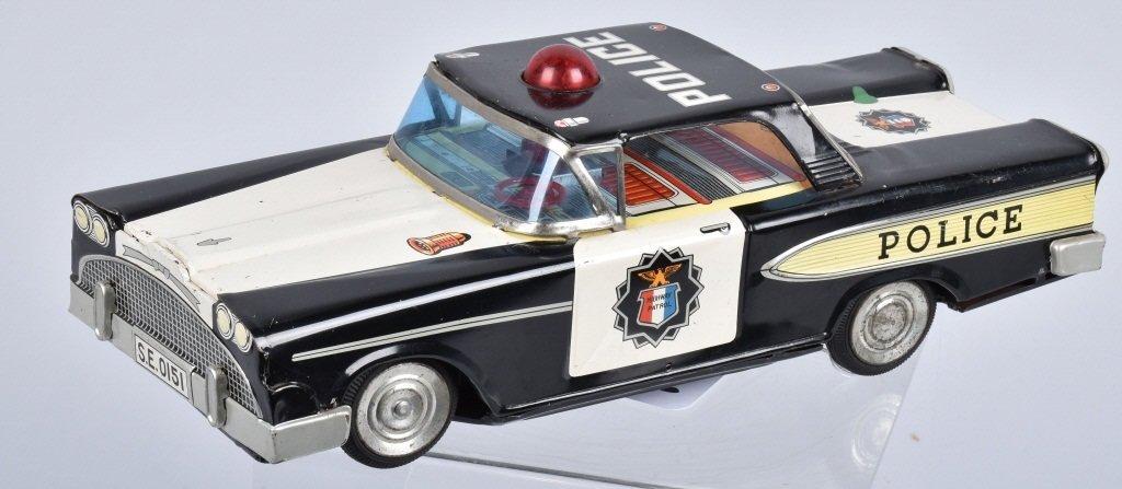JAPAN Battery Op 1950s POLICE CAR