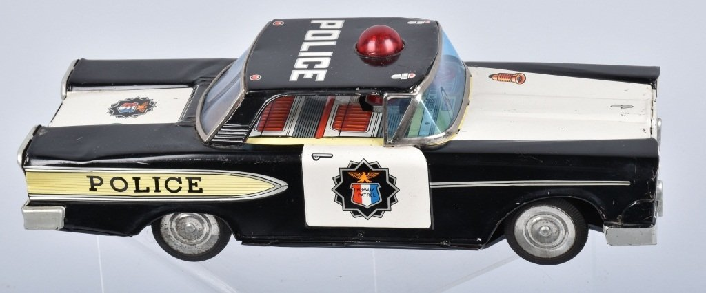 JAPAN Battery Op 1950s POLICE CAR - 3