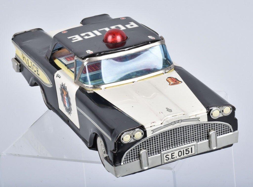 JAPAN Battery Op 1950s POLICE CAR - 4