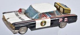 Japan Tin Friction Oldsmobile Police Car
