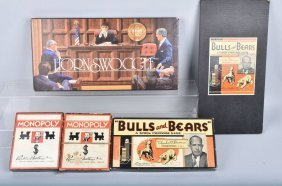 Vintage Monopoly & Bulls And Bears, More Games