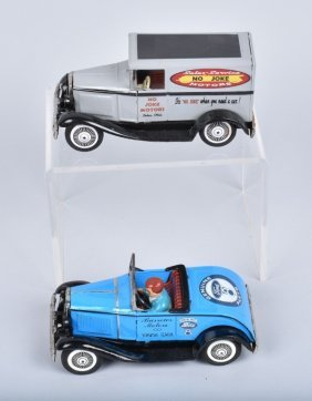 2- Vintage Bandai V8 Ford & No Joke Motors Cars
