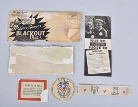 1942 Lone Ranger Blackout Kit Mail Away Premium