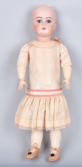 "German Bisque 21"" Doll, Coposition Body, Vintage"