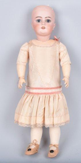 "German Bisque 21"" Doll, Coposition Body, Vintage"