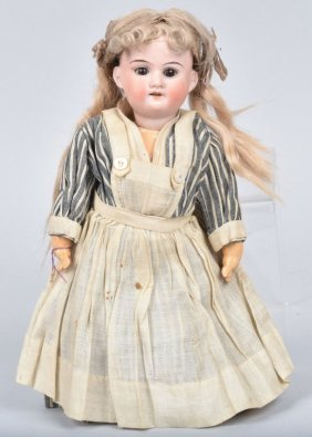 German Am Bisque Head Doll, #390, Vintage