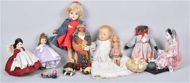 Lot of 12 VINTAGE DOLLS IDEAL ALEXANDER  MORE