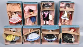 Lot Of 8 Madam Alexander Dolls Boxed