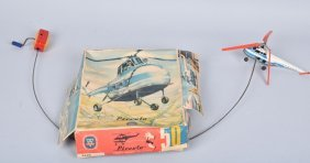 Arnold Germany Tin Windup Helicopter With Box