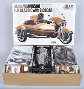 Tamiya Harley-davidson W/ Side Car 1/6 Scale Mib