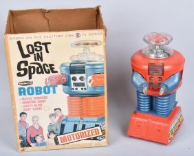 60s Remco Bo Lost In Space Robot With Box