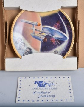 Star Trek Uss Enterprise Crew Plate Mib