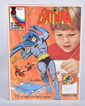1973 Hasbro Batman Paint By Number Set Misb