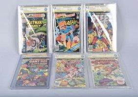 6-graded Comic Books Superman, Steel, & More