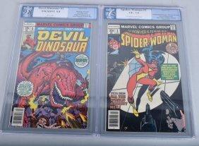 Pgx Graded Devil Dinosaur #1 & Spider-woman #1