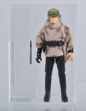 1985 Afa Graded Star Wars Luke (battle Poncho)