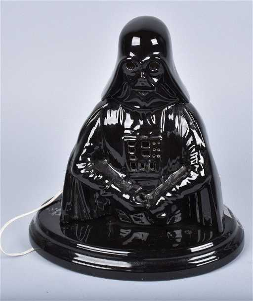Vintage Ceramic Darth Vader Lamp