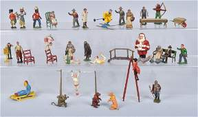 LARGE GROUP OF LEAD FIGURES CIRCUS  MORE
