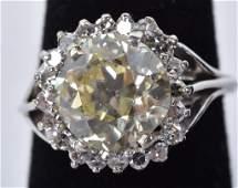 GIA Cert NATURAL FANCY YELLOW 49ct DIAMOND RING