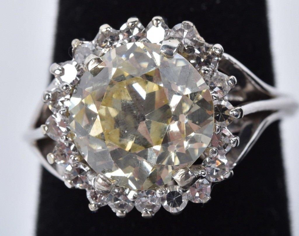 GIA Cert. NATURAL FANCY YELLOW 4.9ct DIAMOND RING