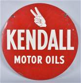 KENDALL MOTOR OIL Double Sided Tin Sign