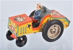 US ZONE GERMANY Tin Windup CLOWN CRAZY CAR
