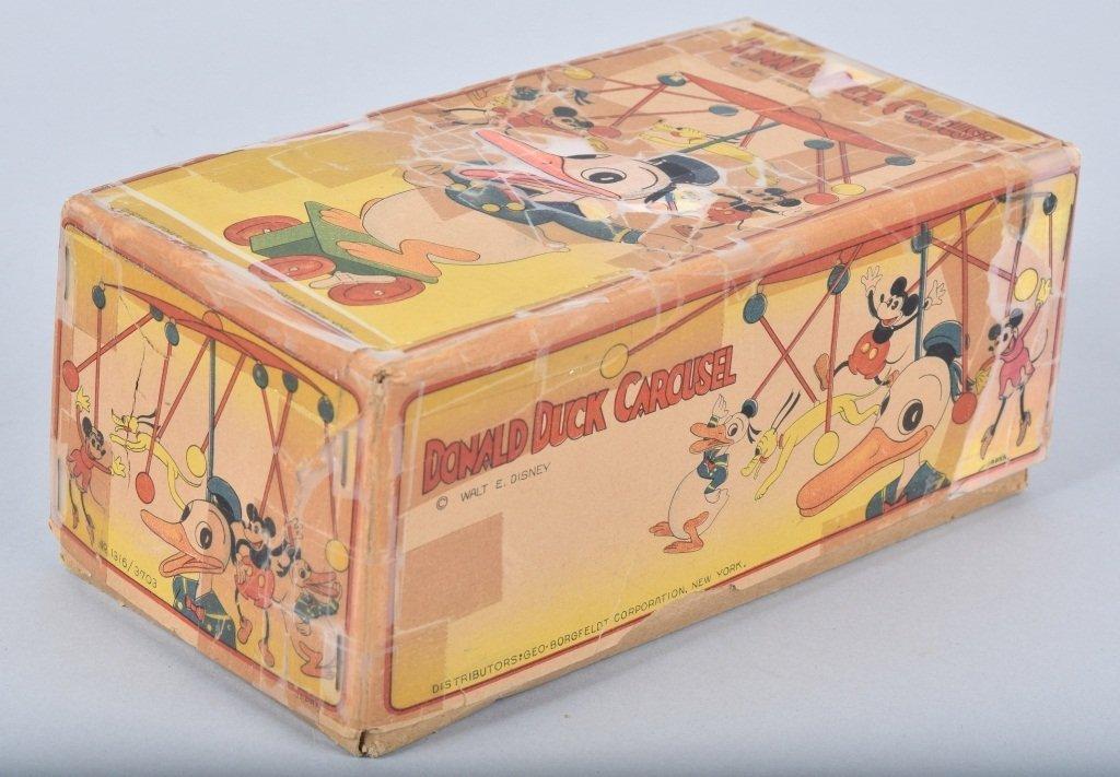 Large Celluloid DONALD DUCK CAROUSEL w/BOX RARE!! - 2