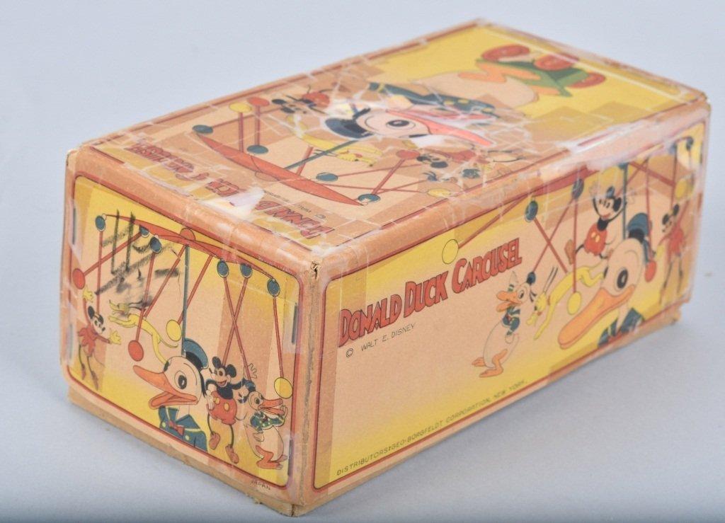 Large Celluloid DONALD DUCK CAROUSEL w/BOX RARE!! - 3