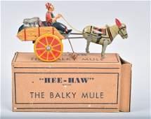 MARX Tin Windup HEE-HAW BALKY MULE w/ BOX