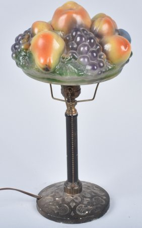 Consolidated Lamp With Fruit Shade