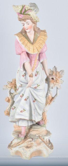 Large Bisque Lady Figure, Vintage