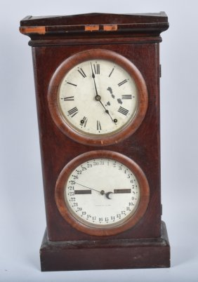 Seth Thomas Double Dial Calendar Shelf Clock