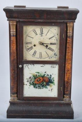 Antique Welch Empire Half Column Shelf Clock