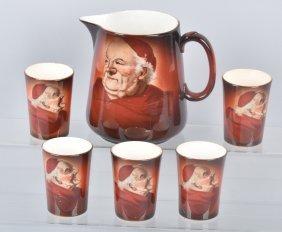 Tst Latona China Monk Water Pitcher And Cups
