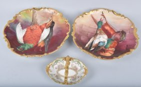 Lot Of Large Limoges Bird Plates & More