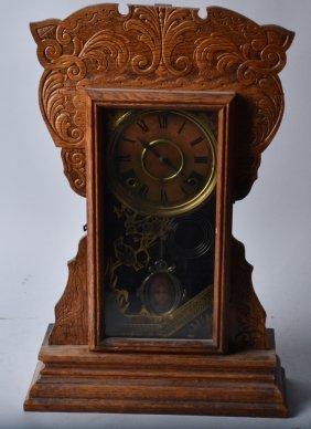 Antique Wm. Gilbert Oak Kitchen Clock