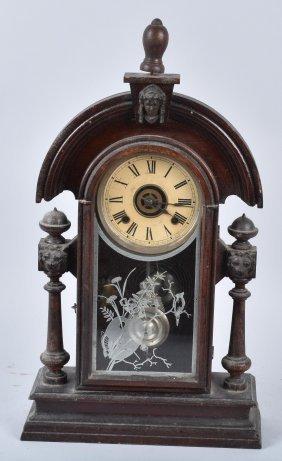 Antique Ansonia Shelf Clock With Alarm