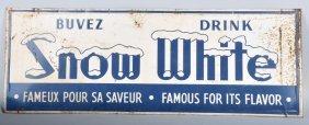 Vintage Tin Snow White Drink Sign