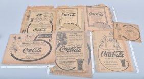 Lot Of Original Teens Coca Cola Advertisments