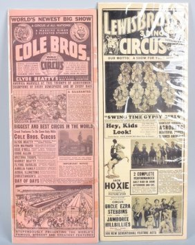 2- Vintage Circus Posters