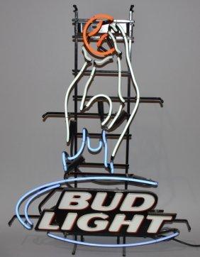 Bud Light Basketball Neon Sign