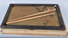 Vintage Childs Pool Table W/ Box