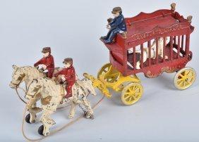 Kenton Cast Iron Overland Circus Lion Wagon