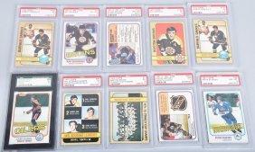 Lot Of 10 Graded Hockey Cards