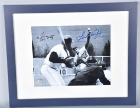 Willie Mays & Sandy Koufax Autographed Pic W/cert