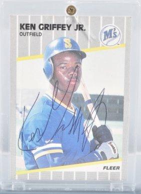Ken Griffy Jr Autographed Baseball Card