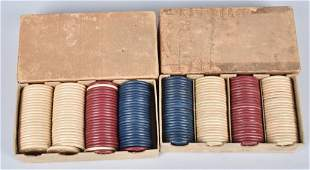 2 FULL BOXES CLAY JOCKEY CLUB POKER CHIPS