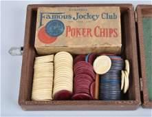 2 SETS OF CLAY JOCKEY CLUB POKER CHIPS